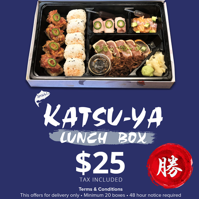 KATSU-YA Lunchbox $25(Tax Included)